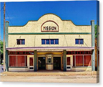 Mission Theater Canvas Print by Gary Richards