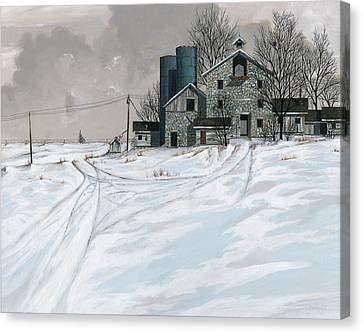 Mission Valley Farmstead Canvas Print by John Wyckoff