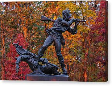 Mississippi At Gettysburg - The Rage Of Battle No. 1 Canvas Print by Michael Mazaika