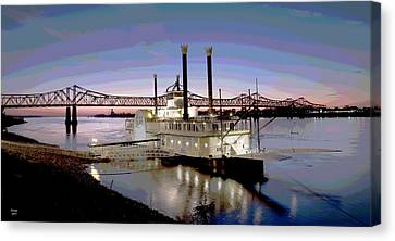 Mississippi Casino Boat Canvas Print by Charles Shoup