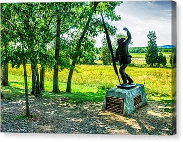 Mississippi Memorial Gettysburg Battleground Canvas Print by Bob and Nadine Johnston