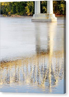 Mississippi Reflection Canvas Print