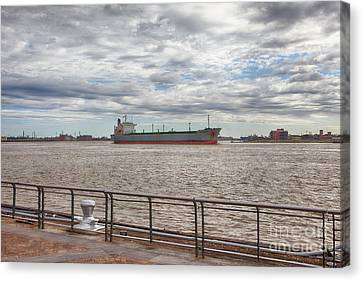 Mississippi River In New Orleans Canvas Print by Kay Pickens