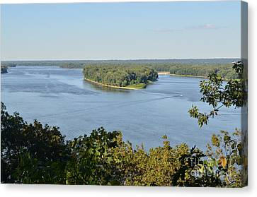 Mississippi River Overlook Canvas Print by Luther Fine Art