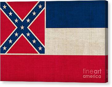 Mississippi State Flag Canvas Print by Pixel Chimp