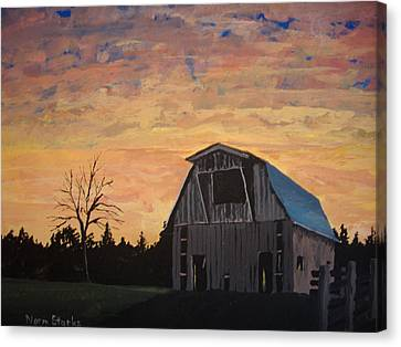 Missouri Barn Canvas Print by Norm Starks