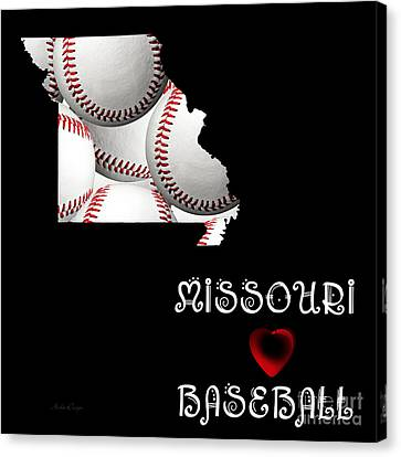 Baseball Canvas Print - Missouri Loves Baseball by Andee Design