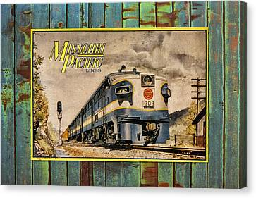 Missouri Pacific Lines Sign Engine 309 Dsc02854 Canvas Print