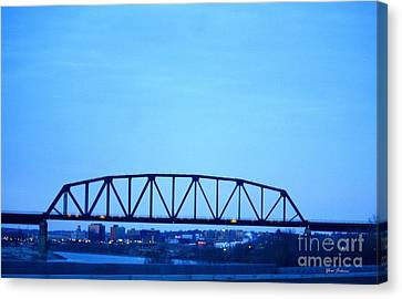 Missouri River At Dusk Canvas Print