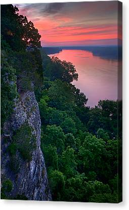 Missouri River Bluffs Canvas Print