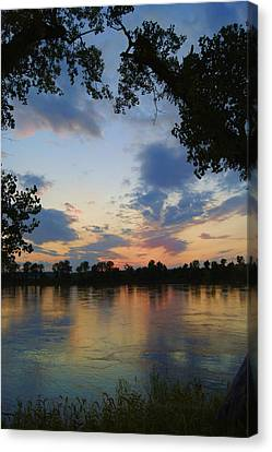 Missouri River Glow Canvas Print