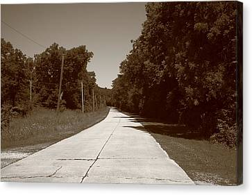 Missouri Route 66 2012 Sepia. Canvas Print by Frank Romeo