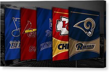 Missouri Sports Teams Canvas Print by Joe Hamilton