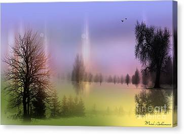 Graphic Digital Art Canvas Print - Mist Coloring Day 2 by Mark Ashkenazi