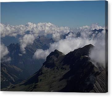 Mist From The Schilthorn Canvas Print