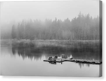Mist On Lake Canvas Print