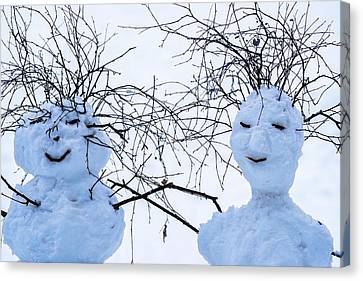 Mister And Missis Snowball - Featured 3 Canvas Print