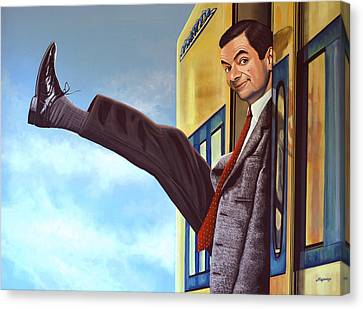 Thin Canvas Print - Mister Bean by Paul Meijering