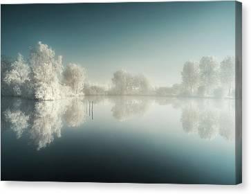 Infrared Canvas Print - Mist'ir Light by David Keochkerian
