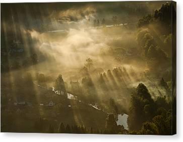 Mist,light And Silence. Canvas Print