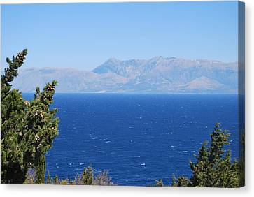 Canvas Print featuring the photograph Mistral Wind by George Katechis