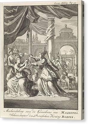 Xerxes Canvas Print - Mistreatment Of Women Of Masistes, Jan Luyken by Jan Luyken And Jan Claesz Ten Hoorn