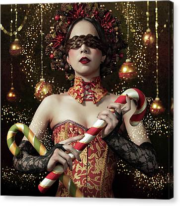 Mistress Of The Bright Night Canvas Print by Kiyo Murakami