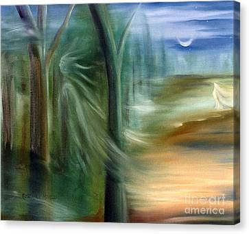 Mists Of Avalon Canvas Print by Rosemarie Morelli