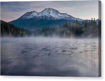 Mists On Siskiyou Lake Canvas Print by Greg Nyquist