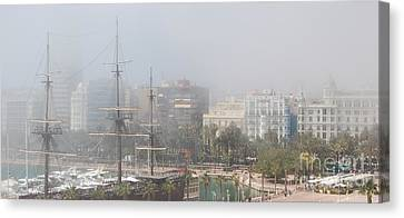 Canvas Print featuring the photograph Misty Alicante by Linda Prewer