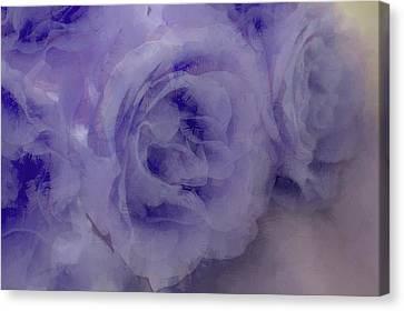 Misty Blues Canvas Print by The Art Of Marilyn Ridoutt-Greene
