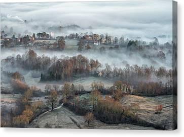 Misty Fields Canvas Print