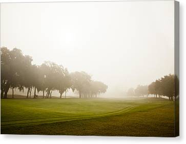 Misty Golf Course II Canvas Print by Barbara Northrup