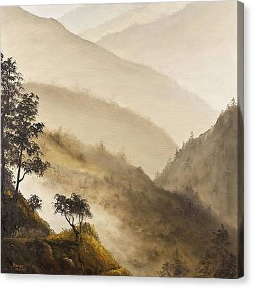 Misty Hills Canvas Print