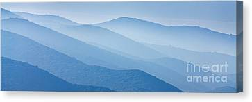 Misty Blue Hills Canvas Print by Rod McLean
