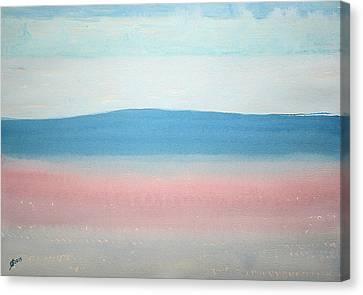 Misty Lake Original Painting Canvas Print