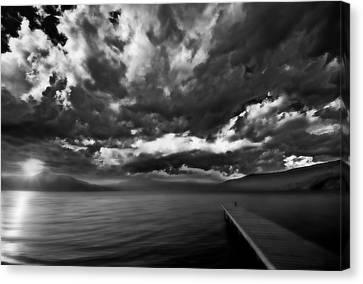 Misty Lake Canvas Print by Thomas Born
