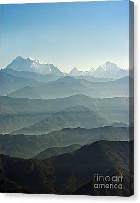 Canvas Print featuring the photograph Misty Layers by Jacqi Elmslie