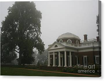 Misty Morning At Monticello Canvas Print by Christiane Schulze Art And Photography