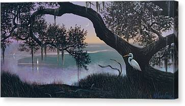 Misty Morning At Seabrook Canvas Print by Blue Sky