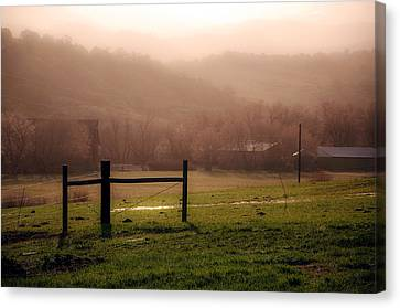 Misty Morning Canvas Print by Eric Rundle