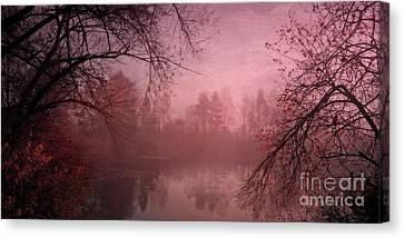 Misty Morning Light Canvas Print by Priska Wettstein