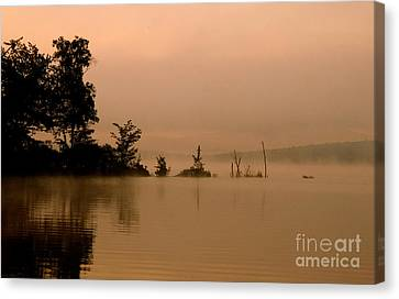 Misty Morning Solitude  Canvas Print