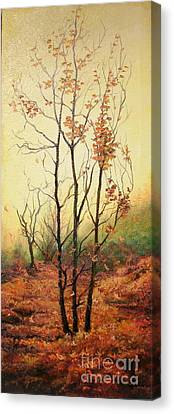 Misty Morning Canvas Print by Sorin Apostolescu