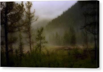 Canvas Print featuring the photograph Misty Mountain by Ellen Heaverlo