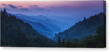 Misty Mountain Morning Canvas Print by Andrew Soundarajan