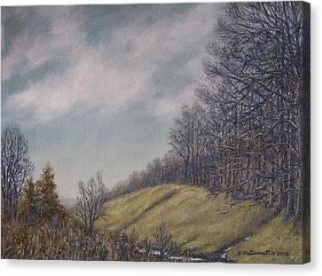 Misty Mountain Valley Canvas Print by Kathleen McDermott