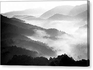 Misty Mountains Canvas Print by Wendell Thompson