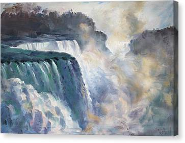 Misty Niagara Falls Canvas Print