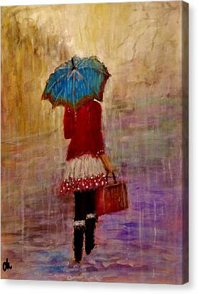 Misty Rain... Canvas Print by Cristina Mihailescu